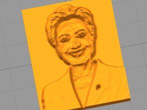 Hillary Clinton Plaque