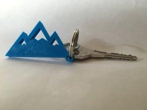 Mountain Keychain