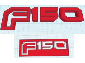 Ford F150 replacement badge and keychain or wall art