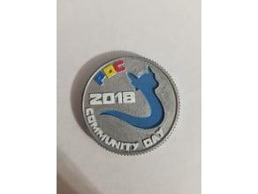 Pokemon Go Community Day #2 coin - Dratini
