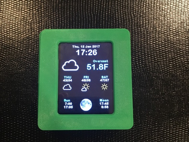 ESP8266 WiFi Weather Station with Color TFT Display by FreeRad21
