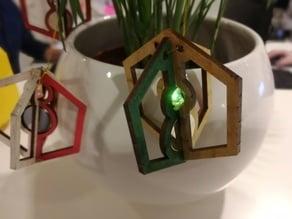 Laser cut LED Bauble, Christmas Tree, Rocket