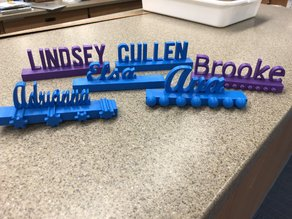 Student/Teacher Name Plates