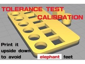 洞板容差測試組_Tolerance Test Calibration Hole and Pillar