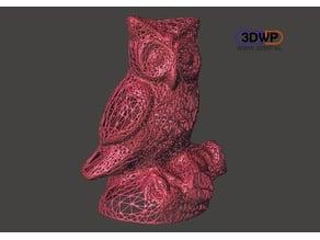 Owl Statue 3D Scan (Voronoi Style)
