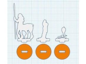 Silhouette Minis - Set 7 - Centaur, Cultist and Cobra