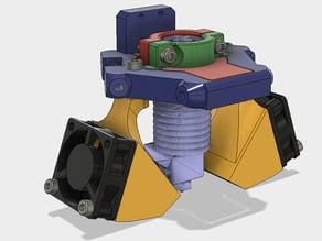 Kossel Mini Delta Effector For E3D V6 With Dual Fan Mount