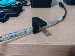 LED strip mounting