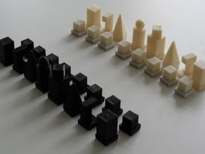 Bauhaus Model I 1922 Chess Set