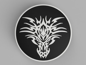 hood / trunk logo Bicolor Dragon02 82mm / 74mm for BMW vehicles