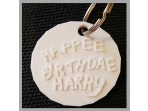 Hagrid's Birthday Cake (Keychain)