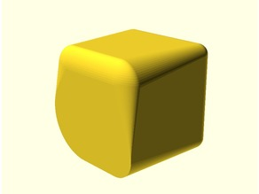 Rounded cube