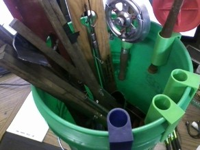 Bucket Ice Fishing Rod Holder