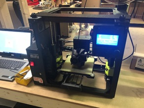 Printed Solid Lulzbot Mini Enclosure Bracket for LCD