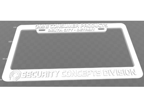 OCP - Omni Consumer Products, License Plate Frame, Robocop