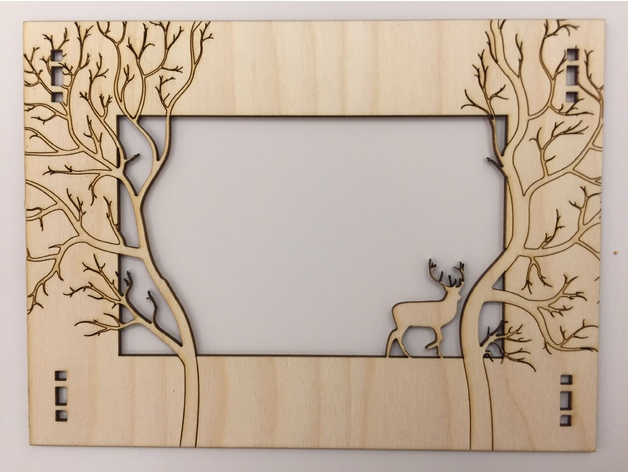 Laser cut Forest Frame w/ Deer by West3DP - Thingiverse