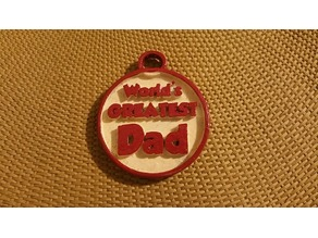 Remix Worlds Greatest Dad Keychain or Charm