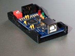 Parametric, open PCB-box (slide-in)