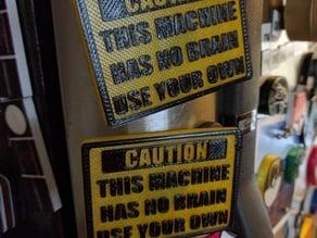 Caution Sign Magnet