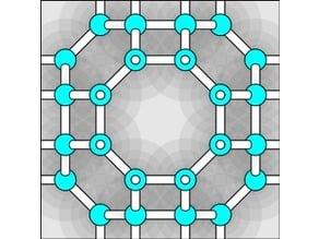 Hypothetical ultralow-density ice RHO / Zeolite RHO.