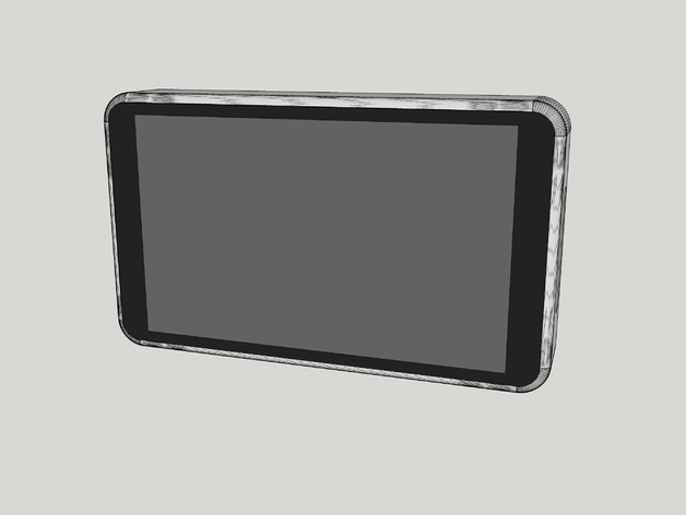 Raspberry Pi 7in Touchscreen Enclosure By Glitchtech