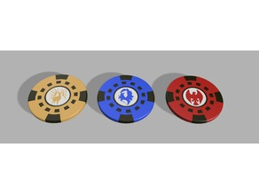Fire Emblem Three Houses Poker Chips