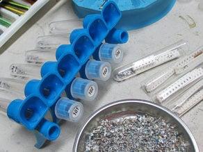 test tube funnel rack for sorting