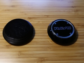 RAYS Wheels Blank/Dummy Center Cap
