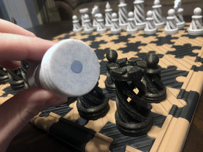Magnet Adaptation for Spiral Chess  / Puzzle Board
