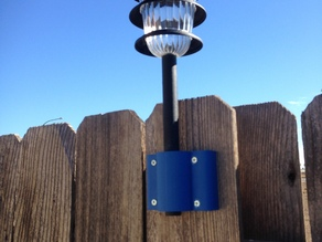 Solar light fence holder mount