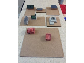 3mm MDF Lot Basing for Structures and Buildings Wargaming