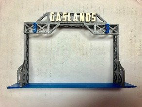 Gate Numbers and Gate Base for tabletop-terrain Gaslands Gates