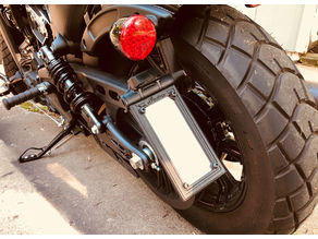 Indian Scout Bobber - License Plate Frame - Vertical & Horizontial