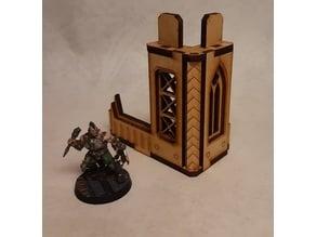Nordgrim tower corner #2 for 3mm laser cut MDF