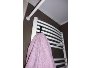 Towel warmer hook