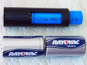 18650 Battery Adapter for 2 C-Cells
