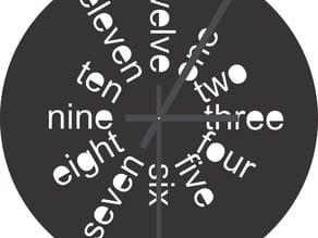 Clock - Laser Cut