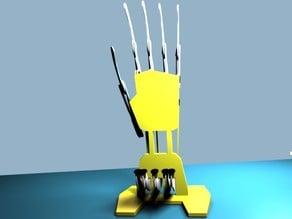 Type writer Robot hand