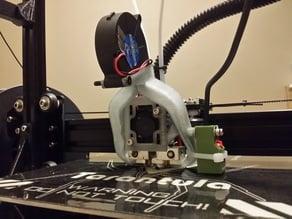 Radial Fan Fang for Tevo Tarantula (5015 fan) Dual Extruder and stock SN04 sensor
