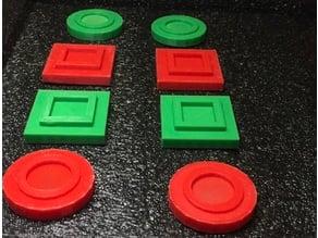 Bocce Ball scoring magnets