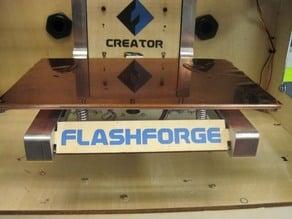 Aluminum ARMS Build Plate Mod for FlashForge
