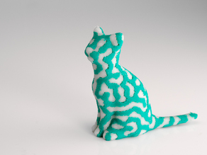 2-color standing cat
