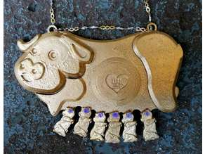 Lucky Pig Necklace Pendant