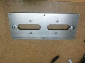 MendelMax dual makerslide Y-axis sub bed