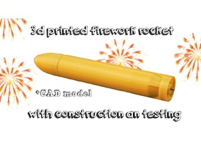 The golden torpedo | 3d printed firework rocket