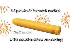 The golden torpedo | 3d printed firework rocket