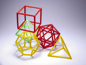 Platonic solids - frame set