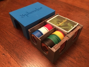 Splendor game organizer with support for sleeved cards