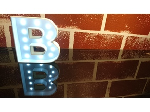 Letras BAR con LEDs (BAR letters with LEDs)