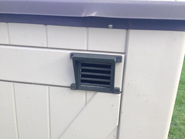 Outdoor shed vent grill by danluc thingiverse for Garden shed ventilation